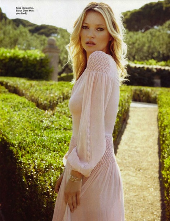 kate moss styling elle