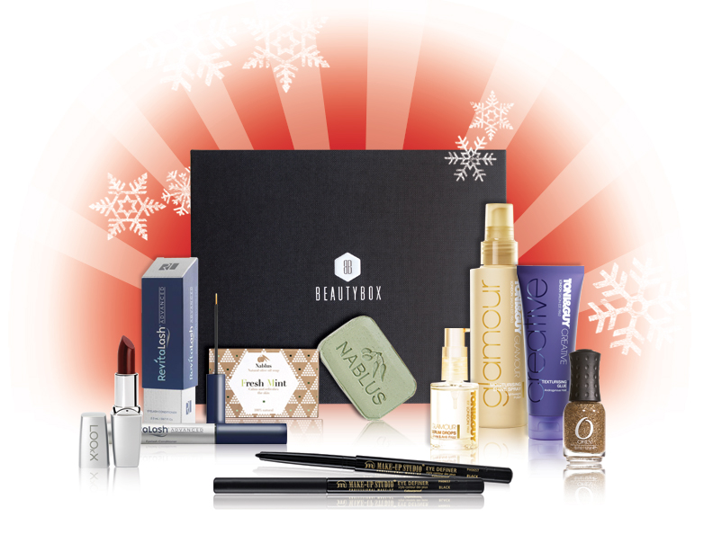 unboxing beautybox kerst deceber 2012 new girl zoeey deschanel make-up wat zit er in de beauty box toni & guy inhoud